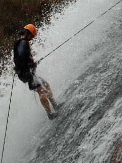 Second abseil. Photo courtesy of Highland Sports Travel.