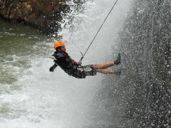 Awkward freefall. Photo courtesy of Highland Sports Travel.
