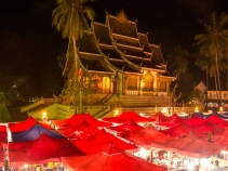Temple by night.