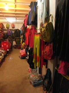 The back room of The Real Gear Shop, where the keep their good gear.