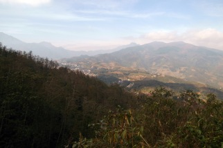 Rising above Sapa.