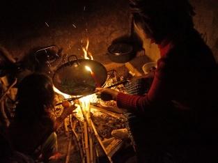 When the lights go out, it's time to cook over the fire by candlelight instead.