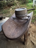 Traditional hand powered rice mill.