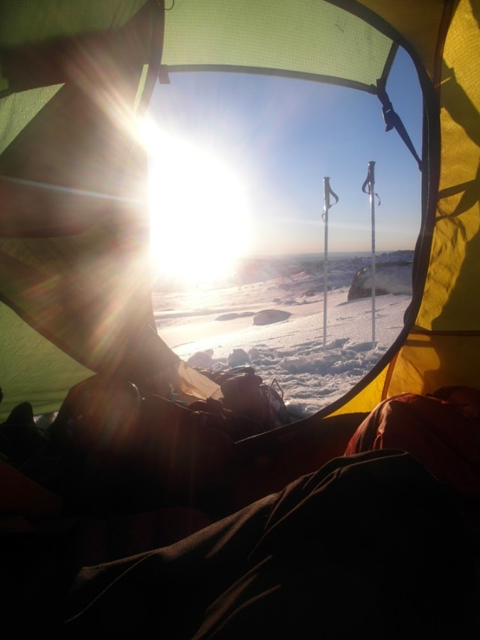 Not really relevant to the tent quality, but it made for a nice morning view.